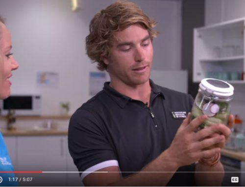 'Food and Fitness with Hayden Quinn' featuring his 'Salad in a Jar' recipe